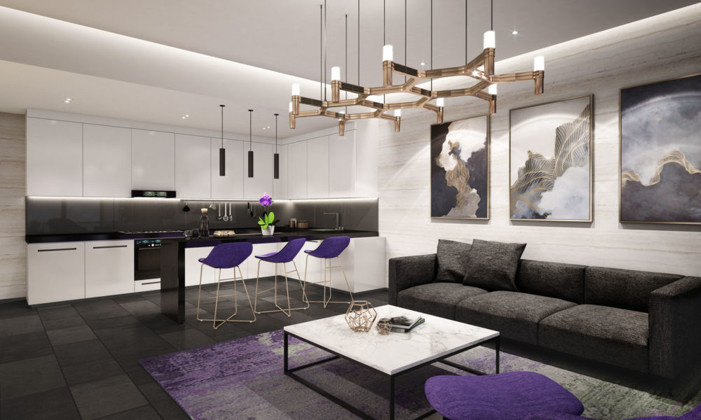 iSuites_Livingroom kitchen